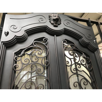 China Factory Direct Wrought Iron Door for Exterior