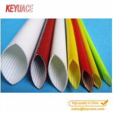 Glass braided insulation sleeve with Silicone Coating
