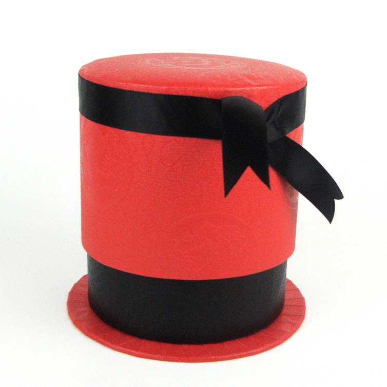 Circle Jewelry Display Gift Box with Ribbon Bow