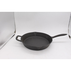 Preseasoned Fry Pan With Support Handle