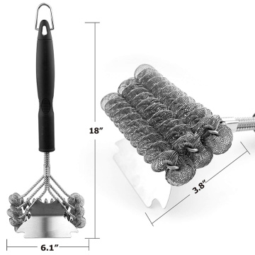 Bristle free safe BBQ cleaning grill brush