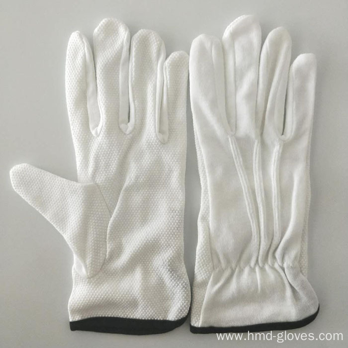 Berets Cap White Cotton Gloves
