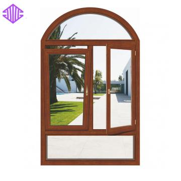 2019 aluminum casement window with arch transom factory sale