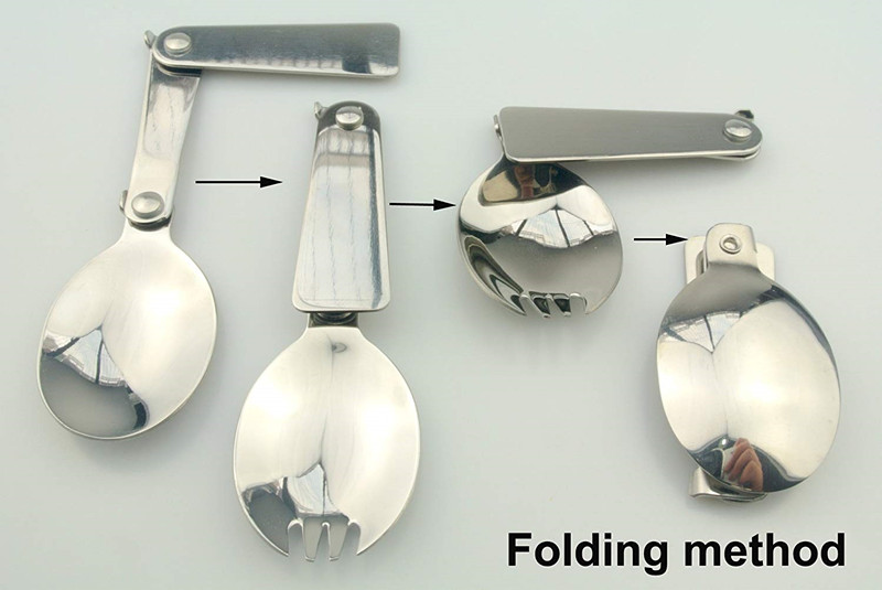 18/8 Quaint Stainless Steel Folding Spoon