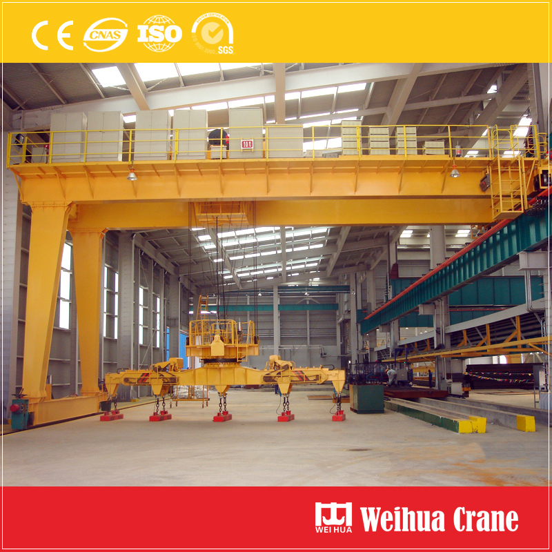 Semi Gantry Crane Double Girder Magnet