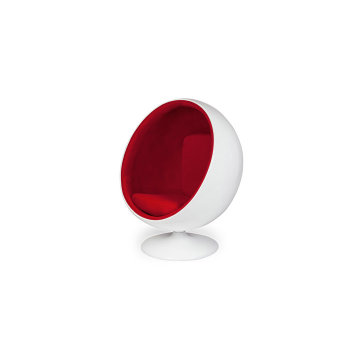 White Fiberglass Shell  Ball Chair fabric