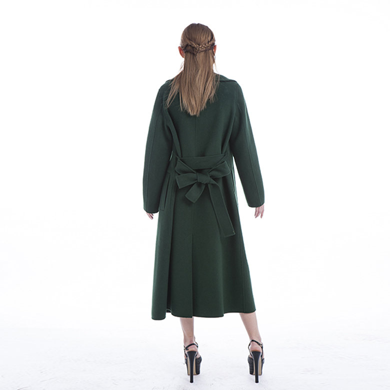 Green 100% Pure Cashmere Winter Outwear