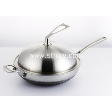 Healthy Daily Stainless Steel Non-Greasy Pan
