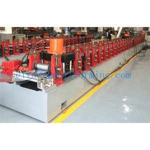 Aluminum door frame roll formed making machine