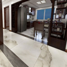 China for Marble Effect Porcelain Floor Tiles Ceramic floor tiles white in kitchen export to Indonesia Suppliers