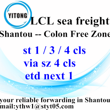 Good Quality for LCL Transport Shantou International Ocean Freight TO Colon Free Zone export to Italy Factory