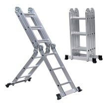 Short Lead Time for Aluminum Folding Ladder 20 steps high quailty aluminum ladder supply to Rwanda Factories