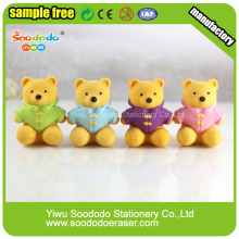 Pecnil topper 3D bear rubber kids eraser