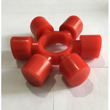 Red Polyurethane Shaft Coupling Elastic Buffer Spiders
