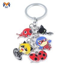 Custom metal nameplate tag charms keychain