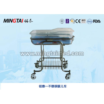 Stainless steel stroller baby carriage