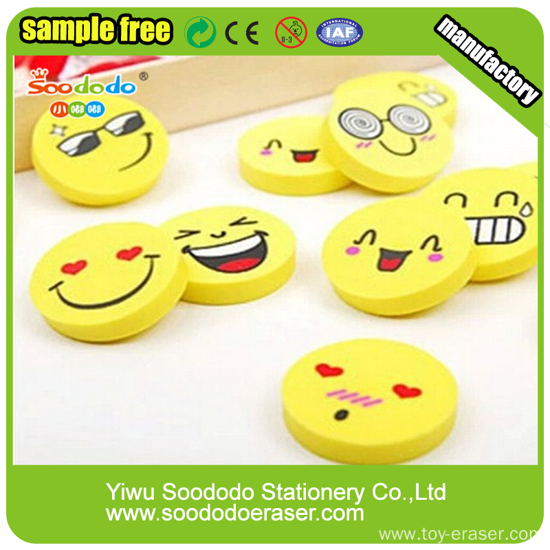 Top Quality Stationery Kawaii Expression Fancy Cartoon Eraser