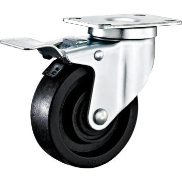 5'' Plate Swivel High Temperature Caster With Brake
