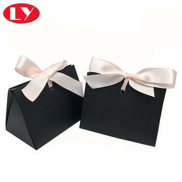 Black special packaging  gift box with ribbon