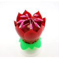 happy birthday rotating amazing musical lotus flower candle