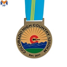 Best custom round shape running metal medals