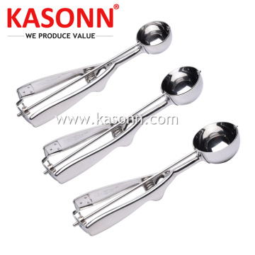 Large Stainless Steel Food Portion Scoop