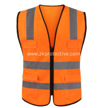 100% polyester orange biking reflective vest