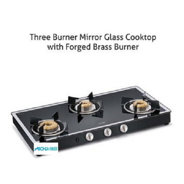 3 Burner Gas Stove Forged Burners Auto Ignition