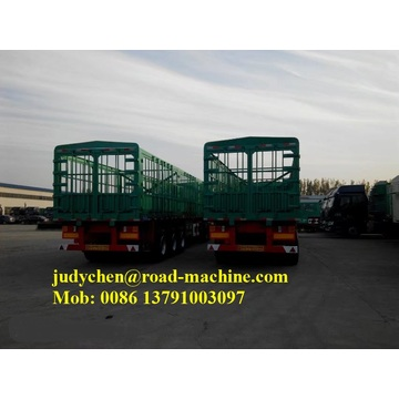 3 Axle 40ft Fence Cargo Semi Trailer