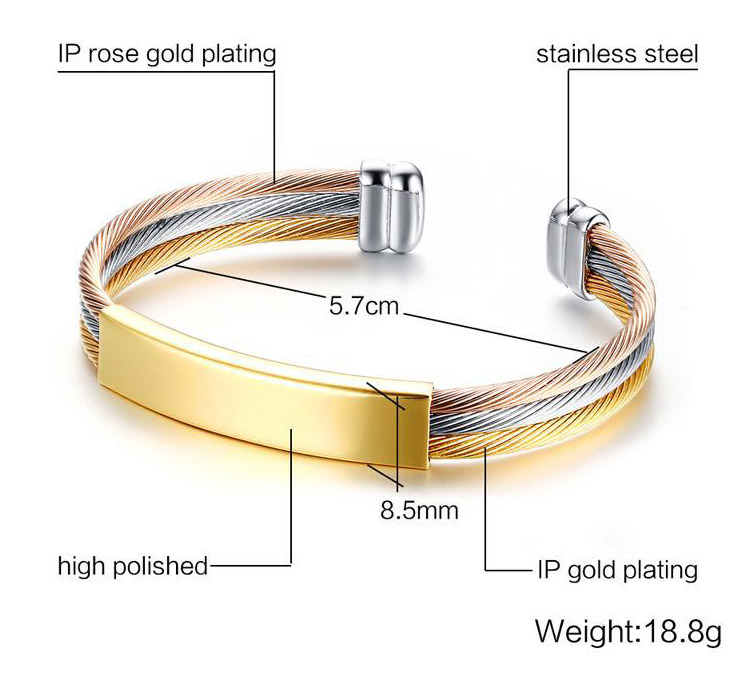 stainless steel cable bracelets