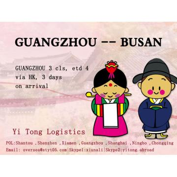 Guangzhou Sea Freight to Busan