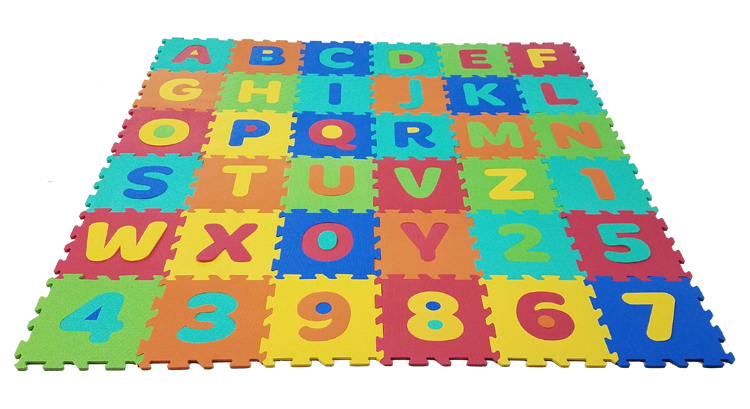 Numbers & Alphabets Puzzle Mat
