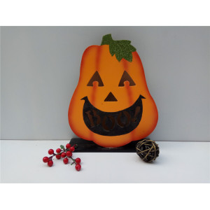 China Top 10 for Halloween Led Decoration Wooden Halloween Pumpkin Light Decoration supply to Belgium Factory