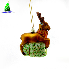 Glass Deer Hanging Hanging Ornament