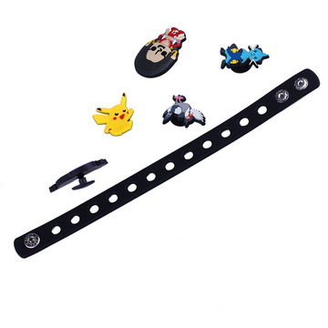 DIY Silicone Band With Charm Beads Wristband With Buckle