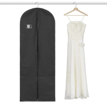 Newest Foldover Plastic Zipper Wedding Dress Garment Bag