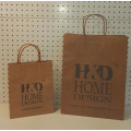 Brown Shopping Bag With Handles