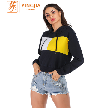 Autumn Women's Hit Color Pullover Loose Hoodies