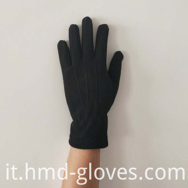 Anti Slip Warm Sports Polar Fleece Glove Back