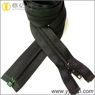 black ordinary nylon zipper for jackets