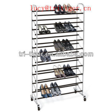 50 pair Chrome Wheel Shoe Rack