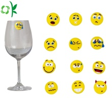 Popular Emoji Silicone Glass Marker for Party