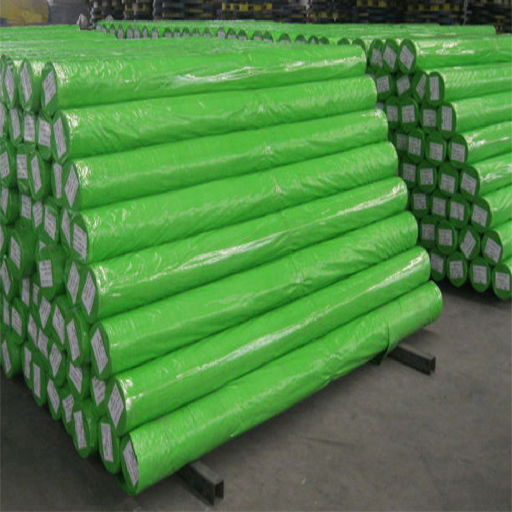 Green Silver Color Tarpaulin Roll