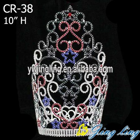 Colored Star Tiara Rhinestone Indian Accessoires