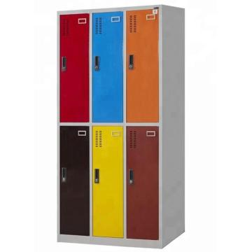 Metal 6 door locker for school