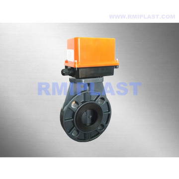 PVDF Butterfly Valve Electric Actuated DIN PN10