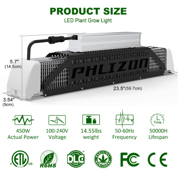 Waterpoof Phlizon LED Grow Light 240W US-Lager