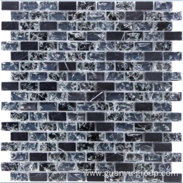cracked black crystal mosaic