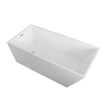 Modern Bathroom Trapezoid Freestanding Bathtub Acrylic