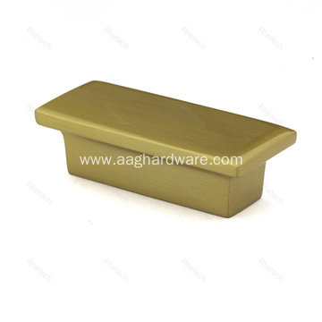 Polished Brass Rectangle Cabinet Hardware Drawer Knobs